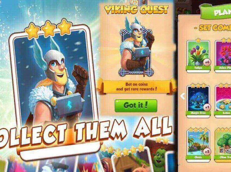 You need coin mastergolden cards to complete card collections