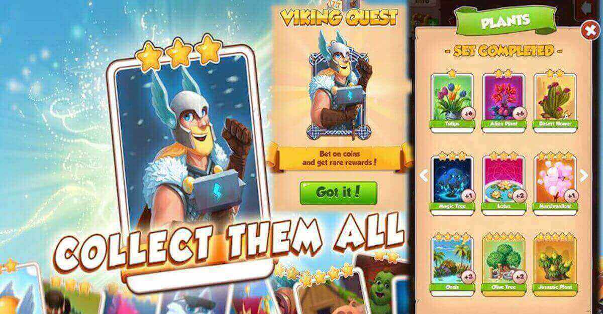 You need coin master golden cards to complete card collections