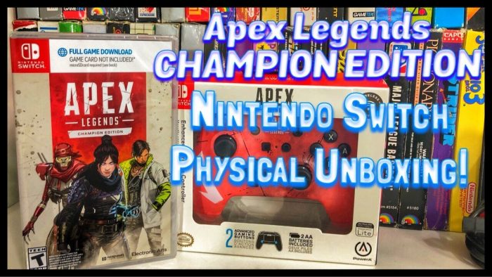Apex Legends CHAMPION EDITION Physical Unboxing, Nintendo Switch